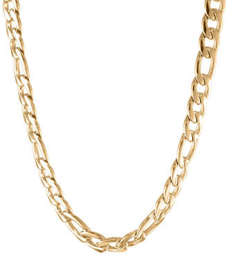 JCPenney FINE JEWELRY Mens Stainless Steel & Gold-Tone IP 22 11mm Figaro Chain