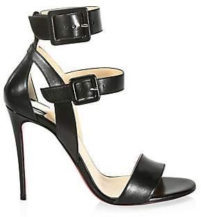 7ec8d6b5f692 Christian Louboutin Women s Multipot 100 Leather Double Strap Slingback  Sandals