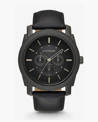 Express Leather Strap Multi-Function Watch