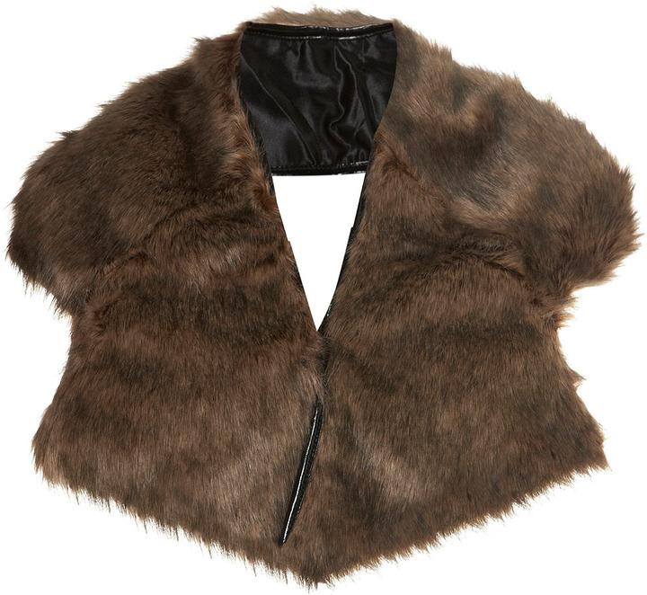Topshop Faux Fur Collar