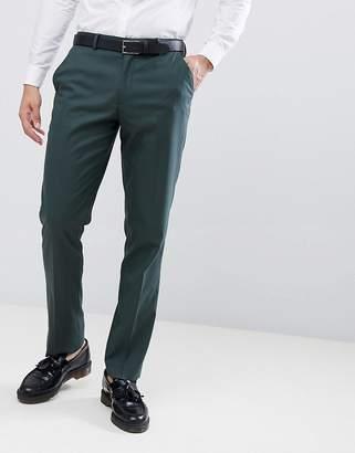 Asos DESIGN slim suit pants in forest green