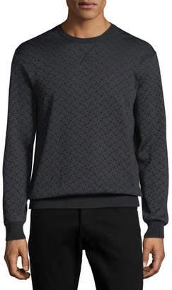 Salvatore Ferragamo Men's Gancini-Pattern Wool-Silk Sweatshirt