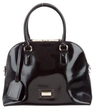 Emporio Armani Patent Leather Satchel