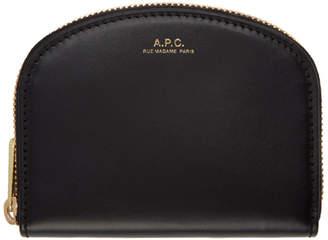 A.P.C. Black Half Moon Compact Wallet
