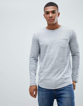 Jack and Jones Core melange long sleeve tee