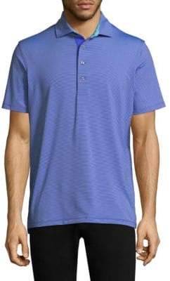 Saranac Modern Tailored-Fit Embellished Polo