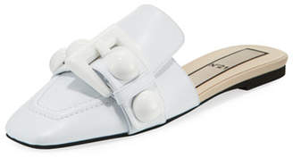 No.21 No. 21 Buckle Calf Leather Flat Mules