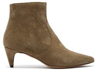 Isabel Marant Derst Suede Ankle Boots - Womens - Khaki