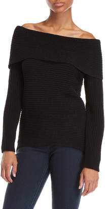 Buffalo David Bitton Cable Knit Off-the-Shoulder Sweater