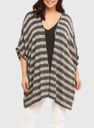 Tart Collections Alania Wrap Cardigan Sweater in Black Size 2X/3X Polyester/Rayon