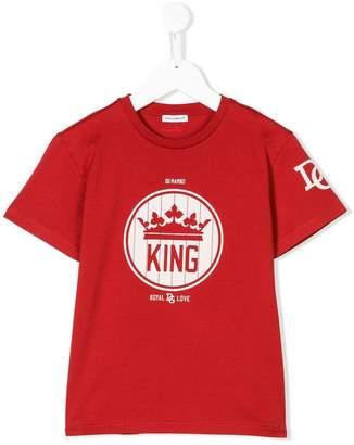 Dolce & Gabbana King print football T-shirt