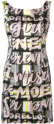 Frankie Morello check and graphic print dress