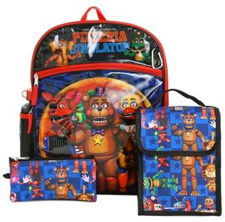 Accessory Innovations Five Nights At Freddy's 5-Piece Backpack Set