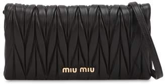 Miu Miu (ミュウミュウ) - MIU MIU キルトレザーショルダーバッグ