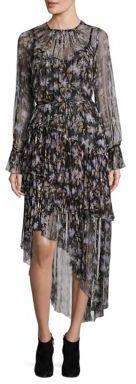 Zimmermann Stranded Tier Long Silk Dress $1,150 thestylecure.com