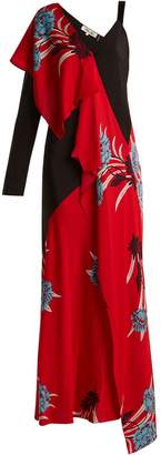 Diane von Furstenberg Farren asymmetric floral-print stretch-silk dress