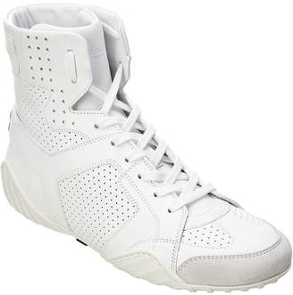 Christian Dior D Fence Leather High-Top Sneaker