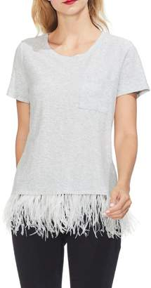 Vince Camuto Feather-hem T-shirt
