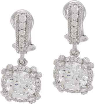 Judith Ripka Sterling Silver 4.70 cttw Diamonique Drop Earrings