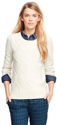 Brooks Brothers Lambswool Fisherman Sweater