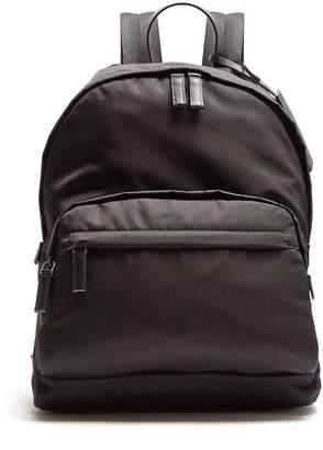 Prada Zip-pocket leather-trimmed backpack