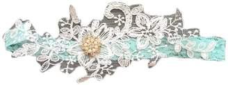Keepsake Yiweir Women Beautiful Wedding Garters Set Off White Lace Flowers with Pearls