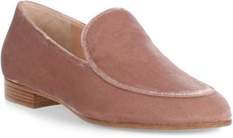 Gianvito Rossi Marcel blush velvet loafer