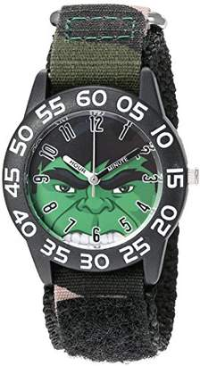 Marvel Boy's 'Hulk' Quartz Plastic and Nylon Watch