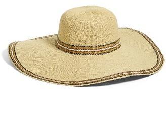 Women's Caslon Stripe Floppy Hat - Brown $39 thestylecure.com