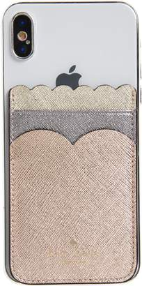 Kate Spade Phone Triple Sticker Scalloped Glitter Pocket
