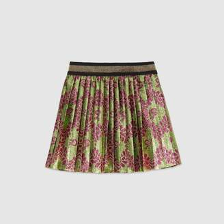 Gucci Baby GG flowers and bow lame jacquard skirt