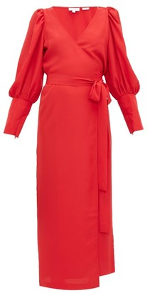 Rhode Resort Aspen Long Sleeve V Neck Dress - Womens - Red