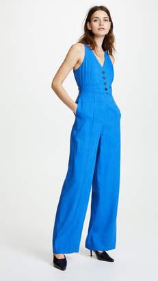 Diane von Furstenberg Button Up Jumpsuit