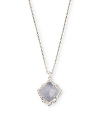 Kendra Scott Kacey Long Pendant Necklace in Silver