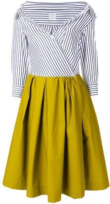 Bardot Sara Roka striped contrast dress