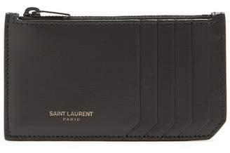 Saint Laurent Leather Cardholder - Mens - Black