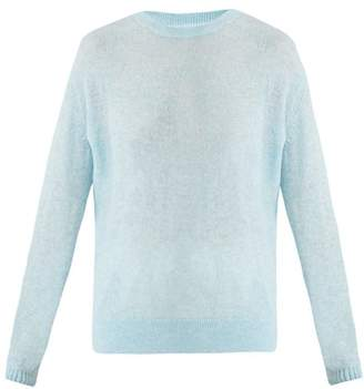 Womens Light Blue Knitted Sweater Shopstyle Uk