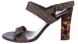 Ralph Lauren Woven Ankle Strap Sandals
