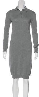 6397 Long Sleeve Knee-Length Dress
