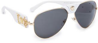 Versace Medusa Aviator Sunglasses $280 thestylecure.com