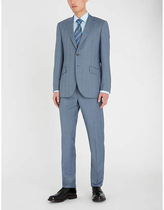 Richard James Regular-fit check-patterned wool suit
