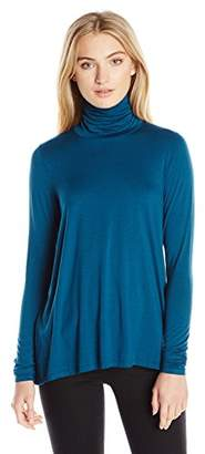 Three Dots Women's Relaxed Turtleneck