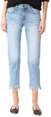 Joe's Jeans Smith Mid Rise Straight Ankle Jeans $189 thestylecure.com