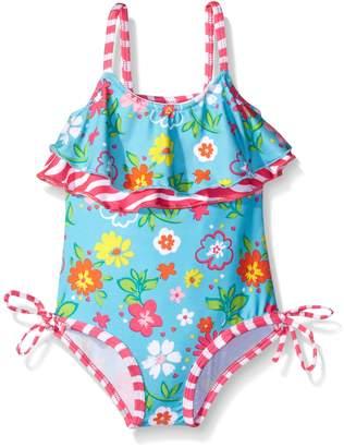 Pink Platinum Little Girls Floral One Piece Swimsuit