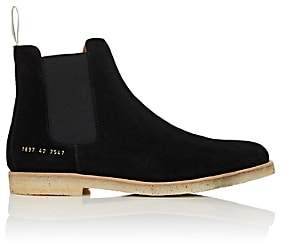 Common Projects Men's Suede Chelsea Boots-Black
