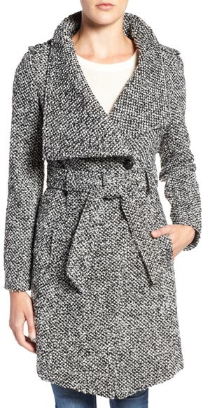 GUESS Water Resistant Asymmetrical Trench Coat