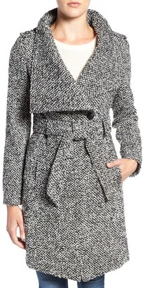 GUESS Water Resistant Asymmetrical Trench Coat $148 thestylecure.com