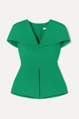 Safiyaa Felicitas Stretch-crepe Peplum Top - Emerald