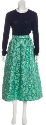 Christian Siriano Jacquard Skirt Set