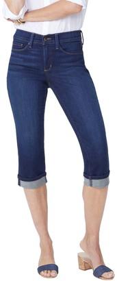 NYDJ Marilyn Crop Jeans w/ Cuff Detail - Bezel